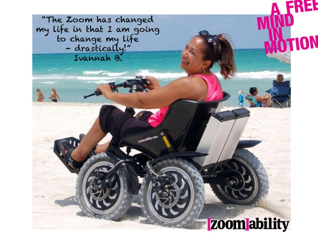 All terrain wheelchair on sand Ivanna